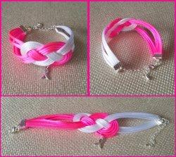 '.Breast Cancer Ribbon Bracelet.'