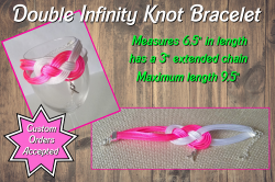 Breast Cancer Awareness Ribbon Double Infinity Knot Bracelet