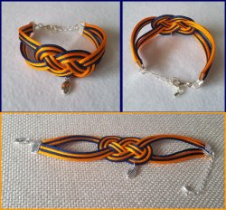 '.Bears Infinity Knot Bracelet.'