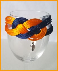 Chicago Bears Double Infinity Knot Bracelet #2