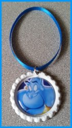 Aladdin Jasmine Bottle Cap Ornament #A3 (you choose image and colors)