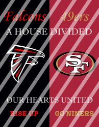 49ers Falcons House Divided Wall Decor Sign (digital or shipped)