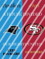 49ers Panthers House Divided Wall Decor Sign (digital or shipped)