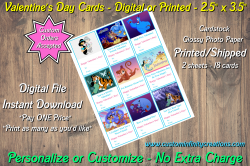 Aladdin Jasmine Digital or Printed Valentines Day Cards 2.5x3.5 Sheet #1