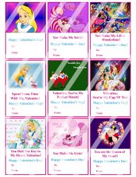 '.Alice in Wonderland Valentines.'