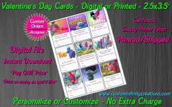 Trolls Digital or Printed Valentines Day Cards 2.5x3.5 Sheet #3