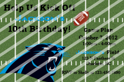 Carolina Panthers Personalized Digital Party Invitation #A (any occasion)