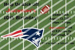 New England Patriots Digital Personalized Party Invitation #A (any occasion)