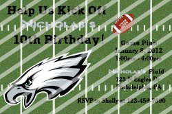 Philadelphia Eagles Personalized Digital Party Invitation #A (any occasion)