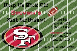 San Francisco 49ers Personalized Digital Party Invitation #A (any occasion)