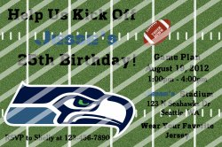 Seattle Seahawks Personalized Digital Party Invitation #A (any occasion)