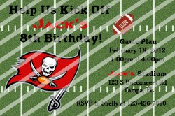 Tampa Bay Buccaneers Personalized Digital Party Invitation #A (any occasion)