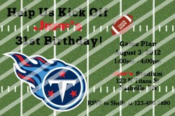 Tennessee Titans Personalized Digital Party Invitation #A (any occasion)