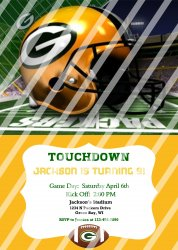 Green Bay Packers Personalized Digital Party Invitation #11 (any occasion)