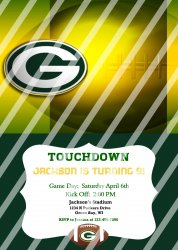 Green Bay Packers Personalized Digital Party Invitation #15 (any occasion)
