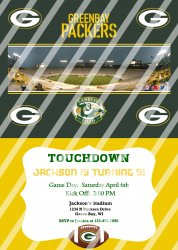 Green Bay Packers Personalized Digital Party Invitation #19 (any occasion)