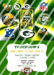 Green Bay Packers Personalized Digital Party Invitation #21 (any occasion)