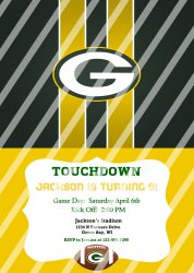 Green Bay Packers Personalized Digital Party Invitation #23 (any occasion)