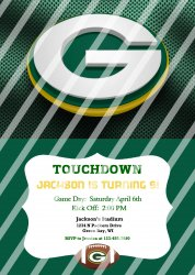 Green Bay Packers Personalized Digital Party Invitation #24 (any occasion)