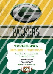 Green Bay Packers Personalized Digital Party Invitation #25 (any occasion)