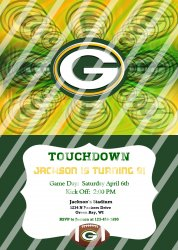 Green Bay Packers Personalized Digital Party Invitation #29 (any occasion)