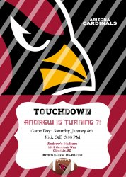 Arizona Cardinals Personalized Party Invitation #1 (digital file you print)