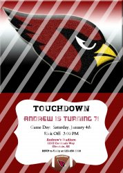 Arizona Cardinals Personalized Party Invitation #10 (digital file you print)