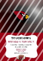 Arizona Cardinals Personalized Party Invitation #11 (digital file you print)