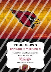 Arizona Cardinals Personalized Party Invitation #12 (digital file you print)