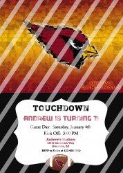 Arizona Cardinals Personalized Party Invitation #12 (digital file you print)