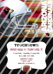 Arizona Cardinals Personalized Party Invitation #13 (digital file you print)
