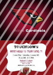 Arizona Cardinals Personalized Party Invitation #14 (digital file you print)
