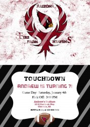 Arizona Cardinals Personalized Party Invitation #15 (digital file you print)