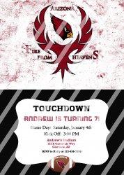 Arizona Cardinals Personalized Party Invitation #15 (digital file you print)