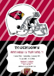 Arizona Cardinals Personalized Party Invitation #18 (digital file you print)
