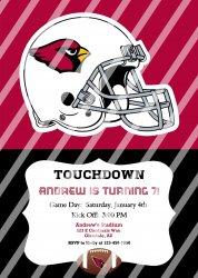 Arizona Cardinals Personalized Party Invitation #18 (digital file you print)