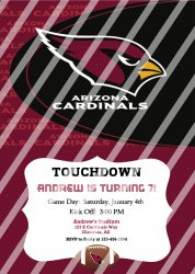 Arizona Cardinals Personalized Party Invitation #21 (digital file you print)
