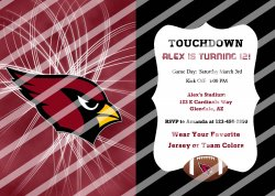 Arizona Cardinals Personalized Digital Party Invitation #53 (any occasion)