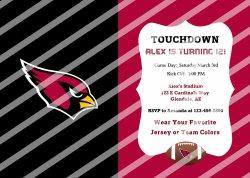 Arizona Cardinals Personalized Digital Party Invitation #54 (any occasion)