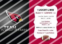 Arizona Cardinals Personalized Digital Party Invitation #55 (any occasion)