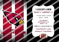Arizona Cardinals Personalized Digital Party Invitation #56 (any occasion)
