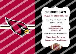 Arizona Cardinals Personalized Digital Party Invitation #57 (any occasion)