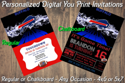 Buffalo Bills Personalized Digital Party Invitation #10 (Regular or Chalkboard)