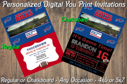 Buffalo Bills Personalized Digital Party Invitation #11 (Regular or Chalkboard)