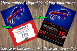 Buffalo Bills Personalized Digital Party Invitation #14 (Regular or Chalkboard)