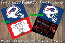 Buffalo Bills Personalized Digital Party Invitation #18 (Regular or Chalkboard)