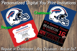 Buffalo Bills Personalized Digital Party Invitation #19 (Regular or Chalkboard)