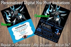 Carolina Panthers Personalized Digital Party Invitation #6 Regular or Chalkboard