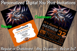 Chicago Bears Personalized Digital Party Invitation #7 (Regular or Chalkboard)