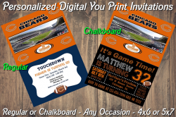 Chicago Bears Personalized Digital Party Invitation #10 (Regular or Chalkboard)